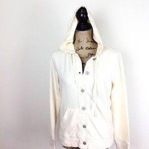 Ralph Lauren Button Front Hooded Jacket M